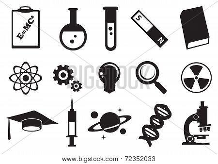 Science Education Vector Icon Set