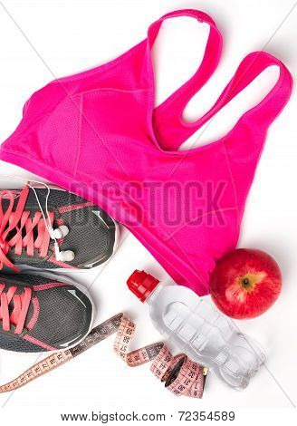 Fitness Equipment Isolated On White Background