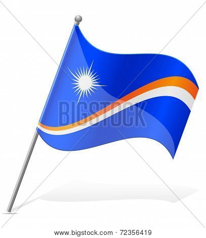 Flag Of Marshall Islands Vector Illustration