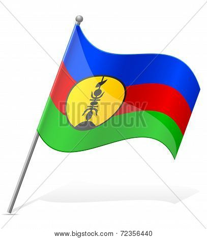 Flag Of New Caledonia Vector Illustration