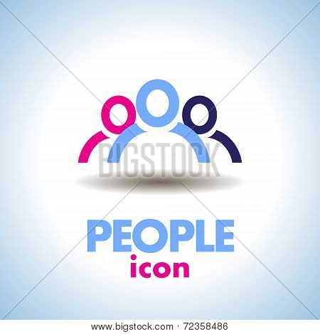 People Icon Logo Vector
