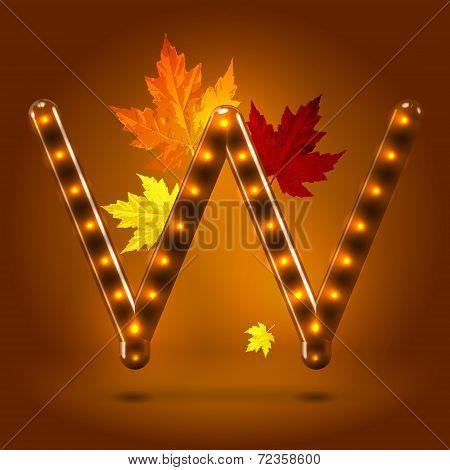 Glossy autumn abc