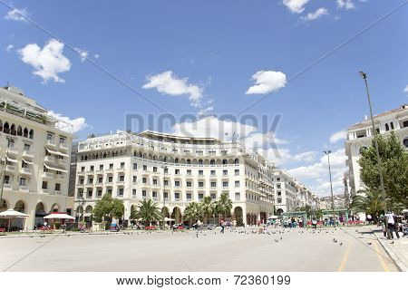 Famous  Aristotelous Square In Thessaloniki, Greece - May 2013.