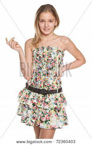 Fashion Smiling Preteen Girl