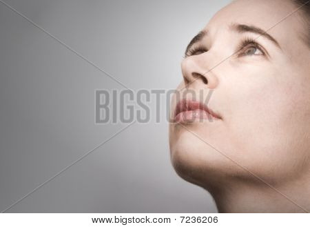 Portrait Of Young Woman In Contemplation