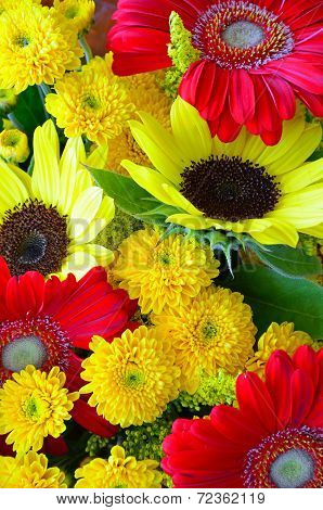 Colorful Autumn Floral Arrangement