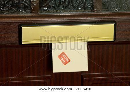 Urgent Letter In Mailbox