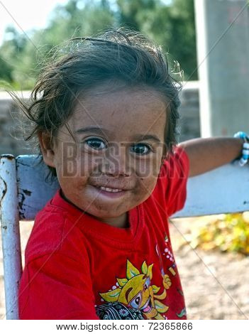 Portrait of a little village girl