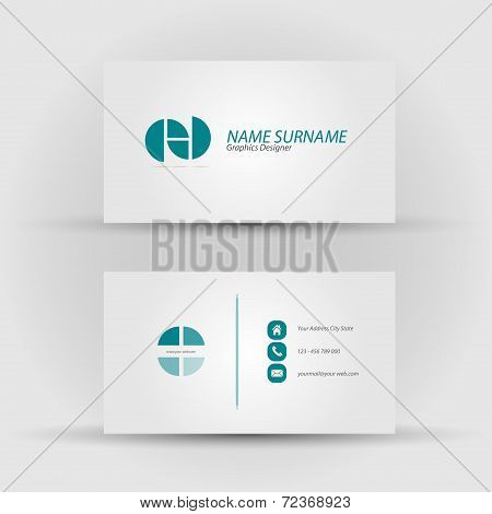 Set of modern vector business card