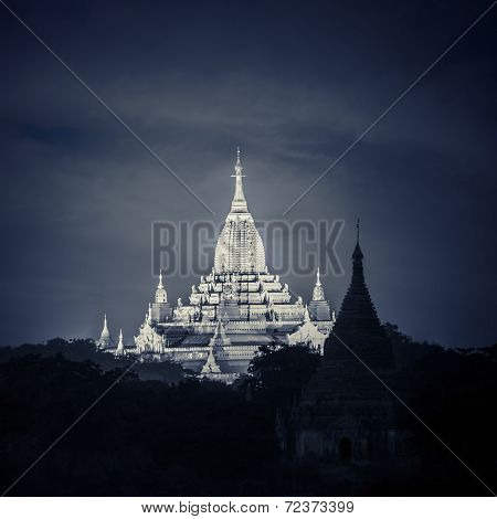 Ancient Buddhist Temples at Bagan Kingdom Myanmar (Burma)
