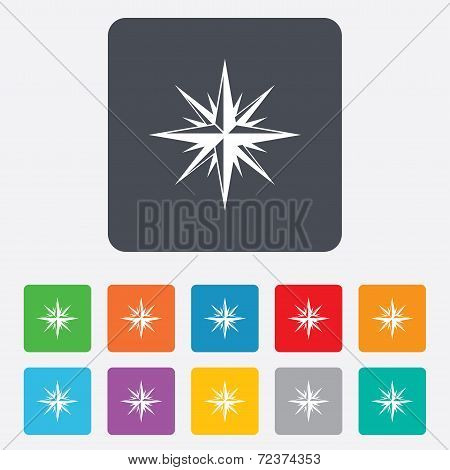 Compass sign icon. Windrose navigation symbol.