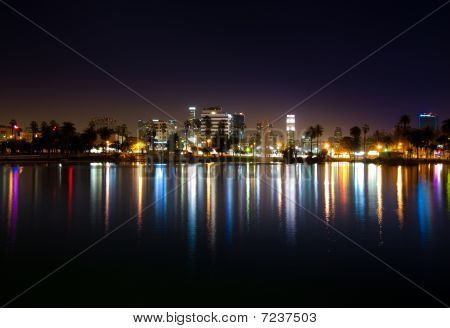 Downtown Los Angeles As Seen From MacArthur Park