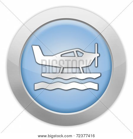 Icon, Button, Pictogram Seaplane