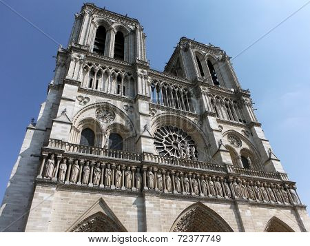 The Grotesque Notre Dame In Summertime Paris