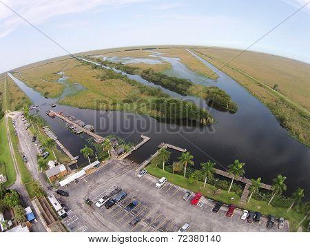 Flroida Everglades Park Aerial View