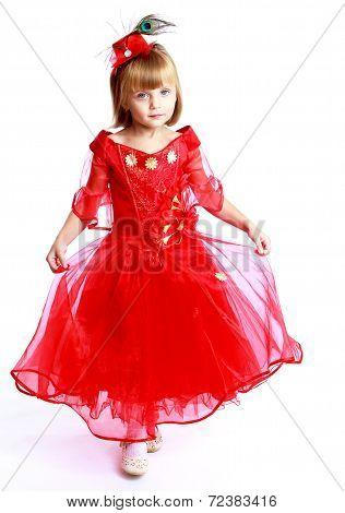 little girl to school