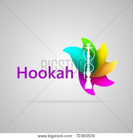 Colorful vector illustration for hookah
