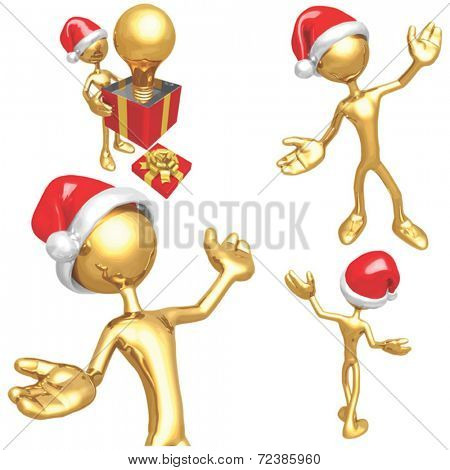 Gold Guy Christmas