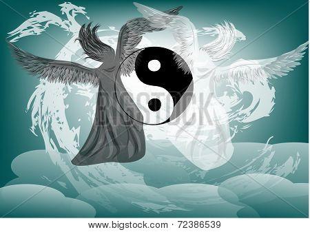 Yin And Yang Fantasy With Angels