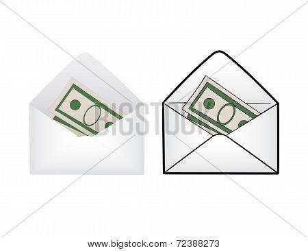 envelope with money