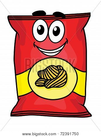 Cartoon potato chips character