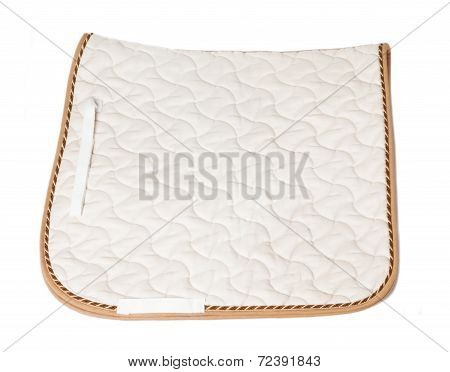 Beautiful Dressage Champagne Saddle Cloth Isolated On White