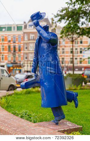 Modern Sculpture In Amsterdam, The Netherlands