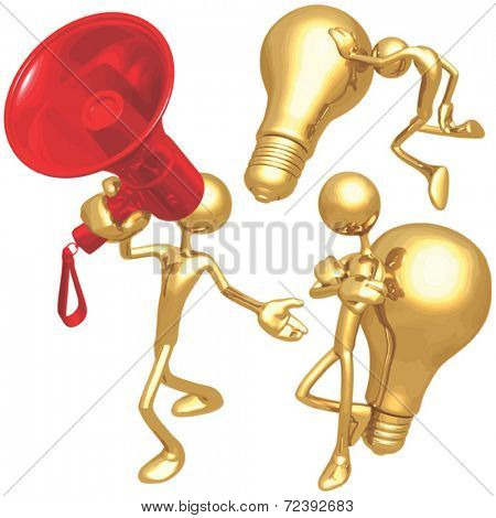 Megaphone & Lightbulbs