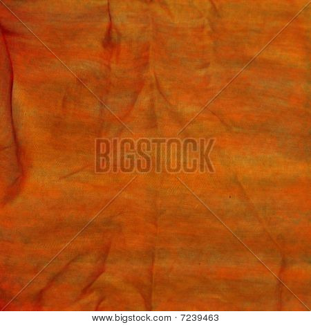 Textured Orange Wrinkled Detailed Background