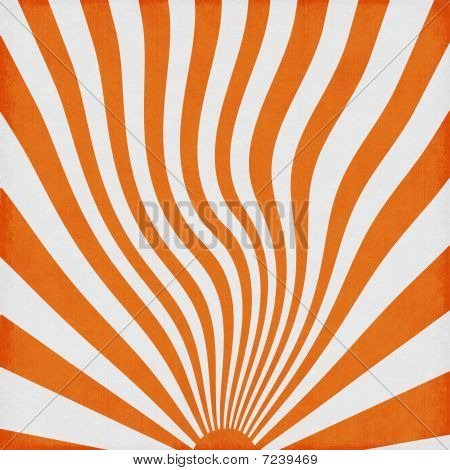 Orange Retro Sun Rise Waves Background