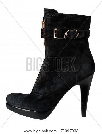Women's Boots On A White Background