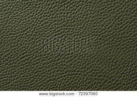 Closeup Of Seamless Green Leather Texture