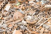 image of scrap-iron  - scrap iron unused rubble remnant of iron texture background - JPG