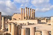foto of artemis  - Temple of Artemis in Jerash Jordan the Gerasa of Antiquity - JPG