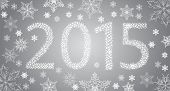 image of happy new year 2013  - Happy New Year 2013 From Stars With White Snowflakes - JPG