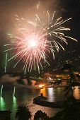 foto of genova  - Pyrotechnic event of late summer in Recco Genova Italy
