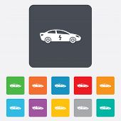 stock photo of car symbol  - Electric car sign icon - JPG