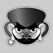 picture of buccaneer  - sticker  - JPG