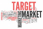 foto of market segmentation  - Word Cloud with Target Market related tags - JPG