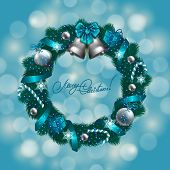 image of christmas wreath  - New Year - JPG