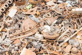 image of scrap-iron  - scrap iron unused rubble remnant of iron texture background - JPG
