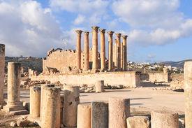 foto of artemis  - Temple of Artemis in Jerash Jordan the Gerasa of Antiquity - JPG
