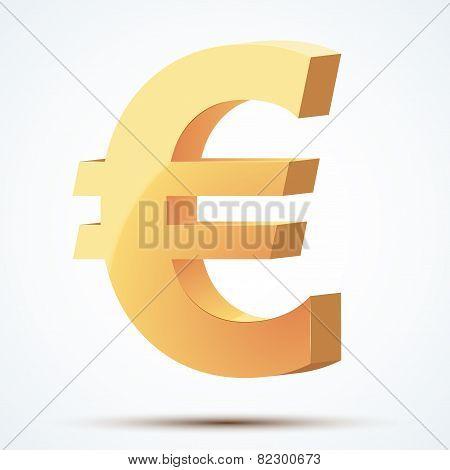 Golden symbol of euro