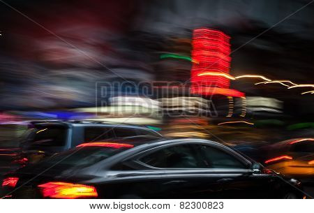 Illumination And Night Lights Of New York City