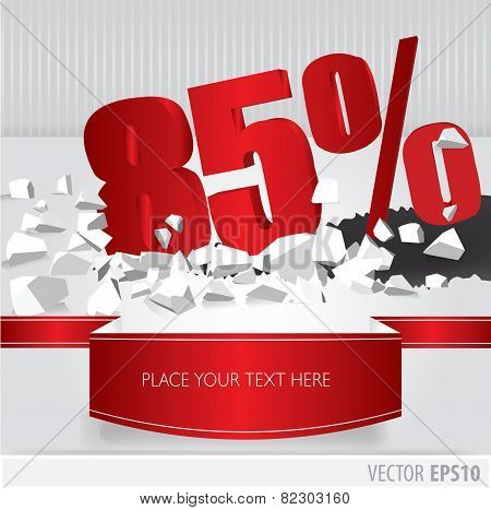 Red 85 Percent Discount On Vector Cracked Ground On White Background