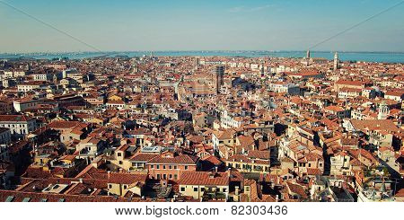 Roofs Of Venice From Campanile Of Florence Cathedral.