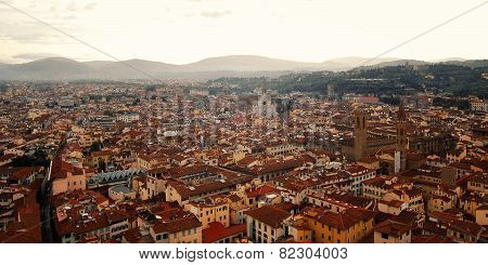 Roofs Of Florence From Campanile Of Florence Cathedral. East Side.