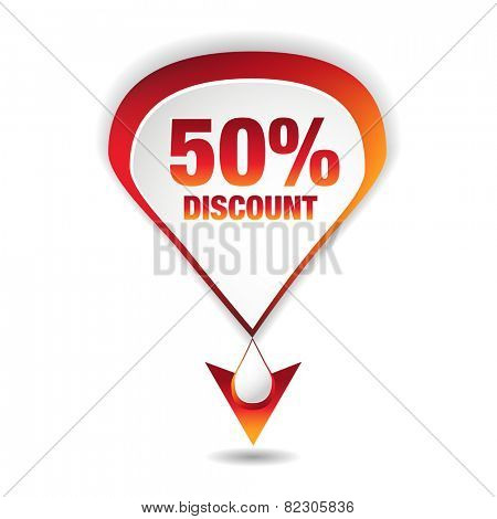 An image of a fifty percent discount icon.