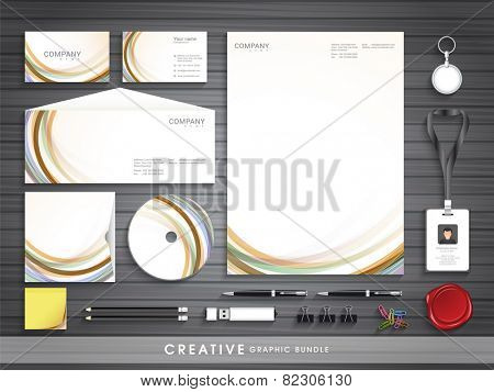 Professional corporate identity set for your business includes CD Cover, Business Card, Envelope, ID Card and Letterhead.