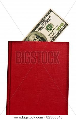 Big Red Book With Blank Cover and Money